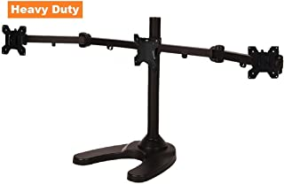 EasyMountLCD EZM Articulating Heavy-Duty Triple Monitor Mount Stand Free Standing with Grommet Mount Option up to 24