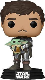 Funko Pop! Star Wars: The Mandalorian - Mandalorian (Din Djarrin) Holding The Child (Grogu)