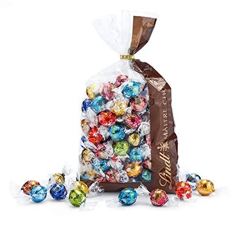 Lindt LINDOR Mischung - mit LINDOR Double Chocolate, LINDOR Salted Caramel und 9 weiteren unendlich zartschmelzenden Sorten, 1.371 kg