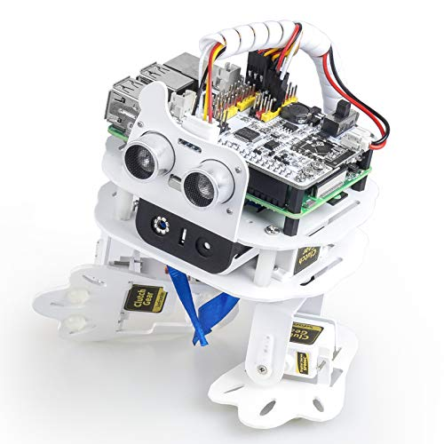SunFounder PiSloth AI Programmable Robot Kit for Raspberry Pi, Dancing, Obstacle Avoidance, Object...