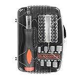 BLACK+DECKER A7062-XJ - Kit con 40 Piezas para atornillar y atornillador de carraca