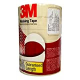3M Masking Tape for Carpenters & Painters 1 Tube : 6 Rolls of 24mm X 20Mtr Each