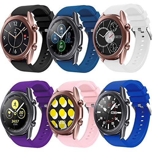 20mm Correa, Compatible con 20mm Correa de Reloj Samsung Galaxy Watch 3 41mm/Galaxy Watch Active/Active2 40mm 44mm, Correa de Repuesto de Silicona Suave para Galaxy Watch 42mm/Gear Sport/Gear S2