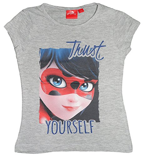Miraculous T-shirt fille Ladybug yourself manches courtes gris - Gris, 5 años