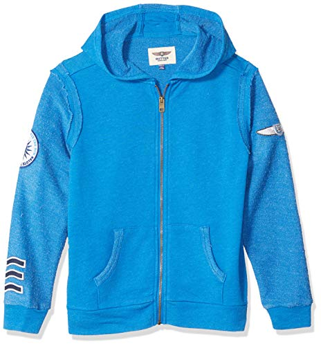 Butter Boys' Big Reverse French Terry Zip Up Hoodie, Skydiver, M