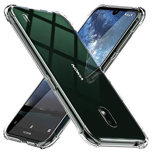 TesRank Nokia 2.2 Hülle, Transparent Silikon Weiche Handyhülle [Anti Slip] [Superdünnen] Durchsichtige TPU Kratzfest Schutzhülle Hülle für Nokia 2.2-Klar
