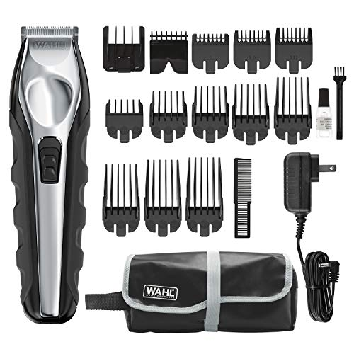 Wahl Lithium Ion Total Beard Trimmer, Facial Hair Clippers with 13 Guide Combs for Easy Trimming, Detailing, & Grooming – Model 9888