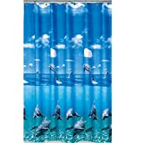 EDLER Textil Duschvorhang 120 x 200 cm Delfin
