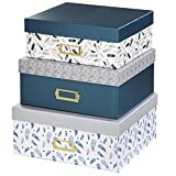 Hama Design Aufbewahrungs-Boxen Set 3x Deko-Box Feather Geschenk-Box Karton Stapel-Kiste...