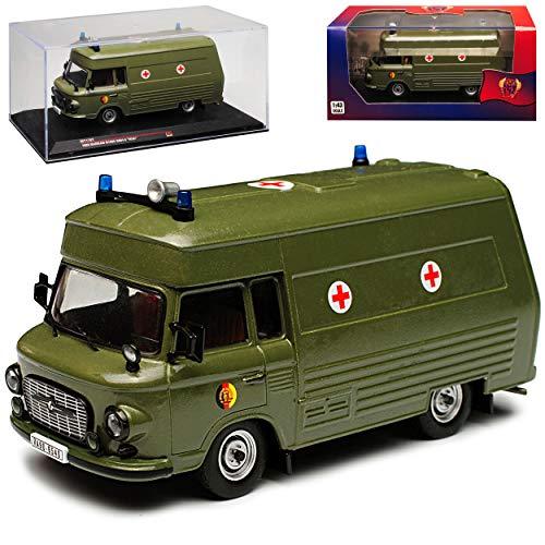 Ixo Barkas B1000 Ambulance Militär NVA DDR SMH-3 Arme Grün 1985 IST170T 1/43 Modell Auto