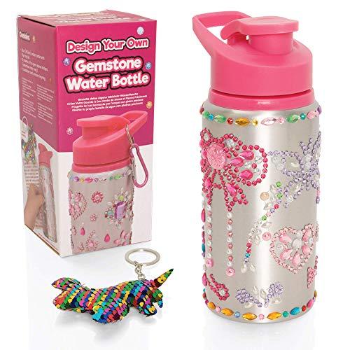 Style Girlz - Kit de Bricolaje para Decorar Botellas de Agua para niñas - Kit de Bricolaje artístico para niños