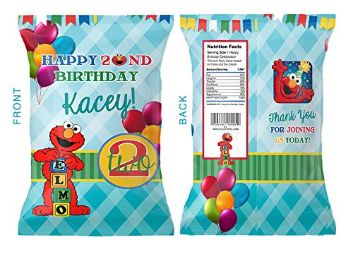 elmo chip bags digital file sesame street red and blue fun birthday party favors any age