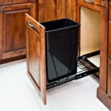 35-Quart - Black-Single Pull-Out Waste Container System/1Can Included & Doorkit