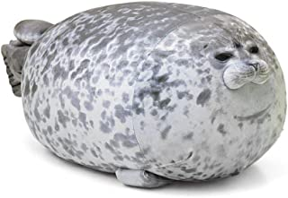 AOLIGE Chubby Blob Seal Pillow Soft Fat Hugging Pillow Stuffed Cotton Animal Plush Throw Pillows Gift (17.6 inches)