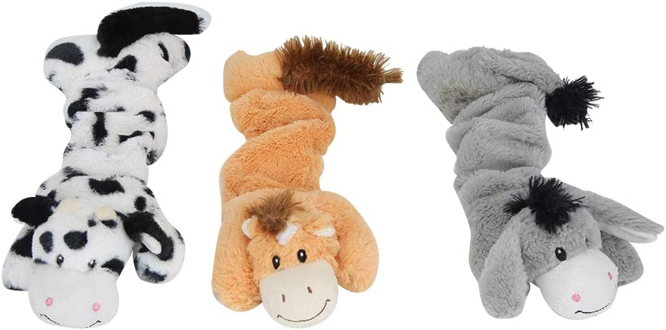 3 PCS Max 63% OFF Dog Squeaky Toys Plush Chew Interactive Soft Sale Special Price