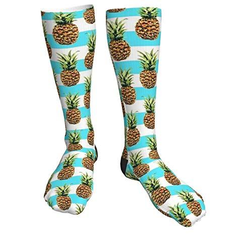 Ananas und Streifen Winter Mode Socken weich warm gemütlich Casual Socken