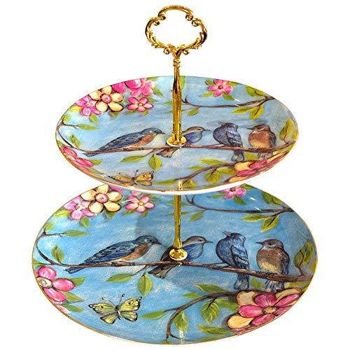 Nologo CUJUX Tiered Tray for Parteien Runde Platter for Kuchen Obst Dessert oder Kuchen des Tee-Pop Ständer