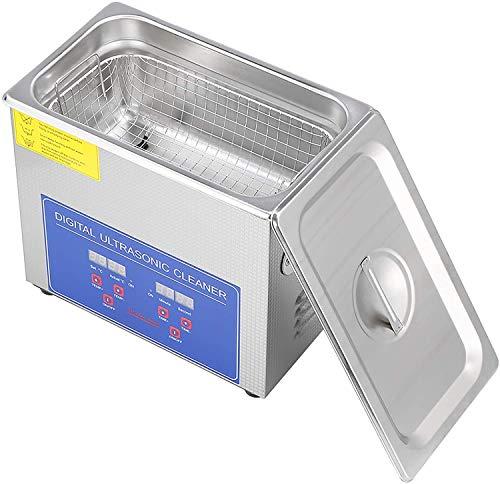 Industrie-Ultraschallreiniger aus Edelstahl mit digitalem Timer-Display, digitales Display-Gerät für Schmuck, Rasierköpfe, Zahnbürsten, wasserdichte Uhren (3L)
