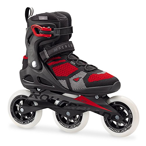 Rollerblade Macroblade 110 3 WD Fitness Patines, Hombre, 07846500 741, Blanco/Rojo, 43