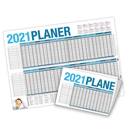 itenga Urlaubsplaner 2021 Wandkalender DIN A2 (59,4 x 42,0 cm) 250g/m² Personalplaner, gefalzt