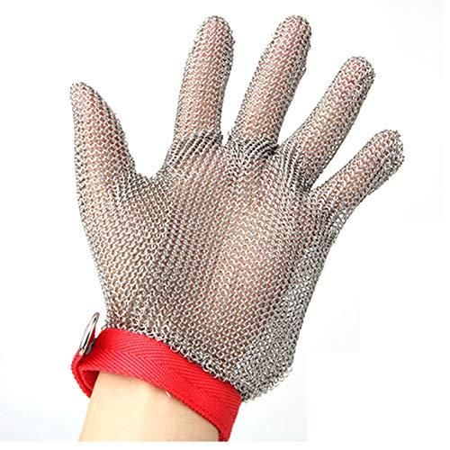 Guantes anticortes Guantes de seguridad resistentes a los apuñalados de acero inoxidable, guantes resistentes al corte y resistente a los pinchazos, carpintería, carnicería, sastre, guantes operativos