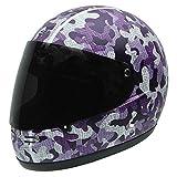 NZI 050262G686 Street Track Graphics Motorradhelm, Violet Camouflage, S