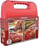 Educa - Cars Maleta Progresivos, 2 Puzzles Infantiles de 20 Piezas, a Partir de 3...