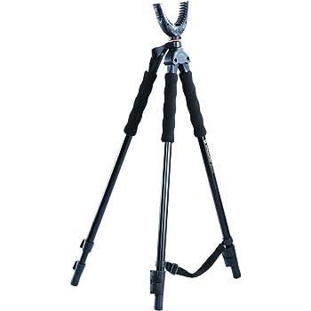 Vanguard Quest T62U Shooting Stick. Tripod, Bi Pod, Gun Pod All In One With Removable U Shaped Yoke, Quick Flip Leg Locks, Foam Hand Grips