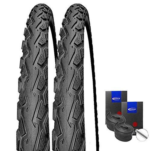 Set: 2 x Schwalbe Land Cruiser schwarz Reifen 26x2.00/50-559 + Schwalbe Schläuche Autoventil