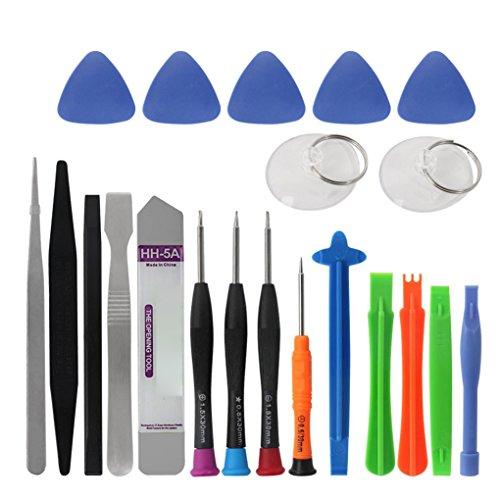 Mastererin 21 1 Ouverture de téléphone mobile Kit de réparation outil téléphone Démontez tournevis Kit pour iPhone Samsung Series