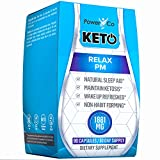 PowerCo Natural Deep Sleep Aid - Adult Herbal Sleeping Supplement & Keto Pills in One - Promotes REM, Brain Function, Nighttime Ketosis, (Pastillas para Dormir) - 90 Capsules