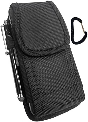 WSQ Holster Canvas Nylon Pouch Compatible with Samsung Galaxy S4 Mini Fit with LifeProof Series product image