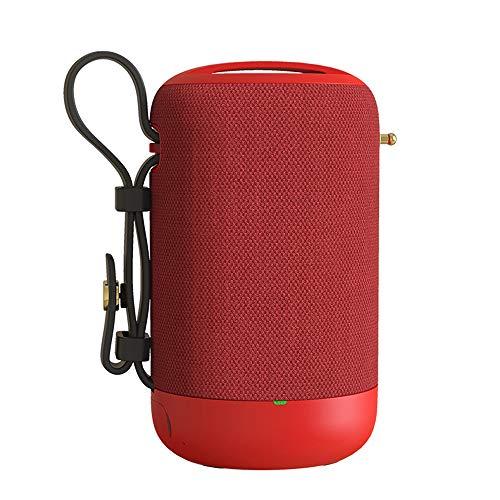 Altavoz Bluetooth, Altavoz Impermeable Sin Hilos De Llamada Reproductor De Audio Portátil Radio Subwoofer Sonido De Alta Fidelidad De Manos Libres, Inicio Alquiler De Recorrido Al Aire Libre,Rojo