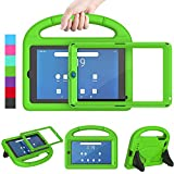 LEDNICEKER Kids Case for Onn 7 Tablet,Onn 7 inch Tablet Case with Built-in Screen Protector, Lightweight Shockproof Handle with Stand Kid-Proof Case for Onn 7 inch Tablet (Model:100015685), Green