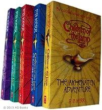 P B Kerr Children of The Lamp Series 5 books : The Akhnaten Adventure / The Blue Dhinn of Babylon / The Cobra King of Kath...