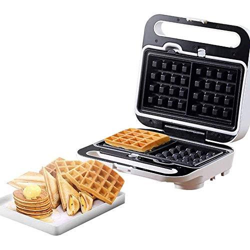 Waffle Makers, fers à repasser multifonctions Mini Gaufrier machine électrique gâteau Gaufrier, plaques amovibles Easy Clean, contrôle automatique de la température, for le petit déjeuner, le dîner 11