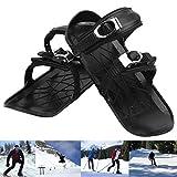 Hezhu Unisex Winter Ski Skates Schuhe Skiboard Mini Snowblades für Outdoor-Sportarten