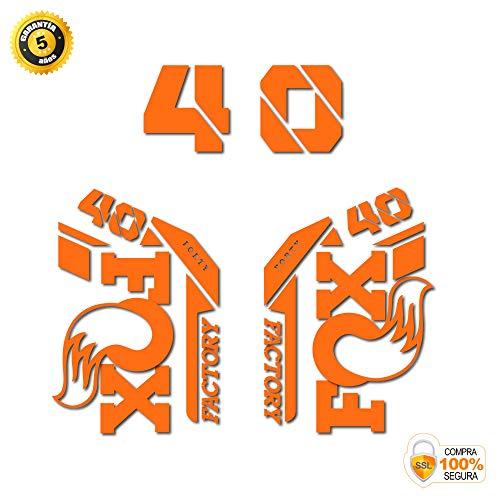 Aufkleber Gabel für Fahrrad Modell 2021 Fox 40 2021 Heritage Collection Sticker gestanzt Bike 40 Fox Fork Decals 2021 Original orange
