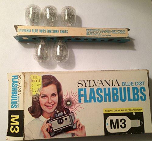 Sylvania M3 Blue Dot Camera Flashbulbs, (Pack of 12)