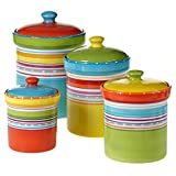 Certified International 25630 4 Piece Mariachi Canister Set, Multicolor
