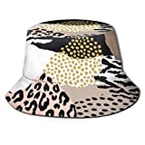 Gorra de Sombreros Transpirables de Tapa Plana Unisex Impresionante Animal Print Sun Hat Summer Fisherman's Hat
