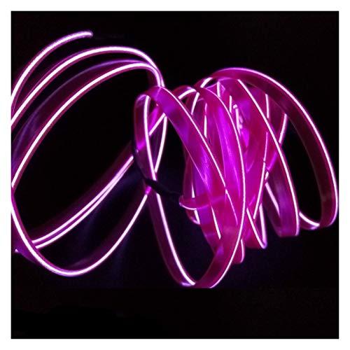 1 m/2 m/3 metros/5 m L E D luces interiores decoración luz ambiental coche 12 V flexible neón cable de alambre de accesorios para interior (color 1 metro)