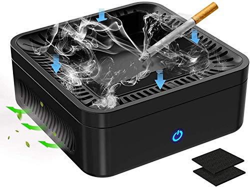 Luftreiniger Aschenbecher Multifunktional 3 IN 1 Rauchloser Aschenbecher mit Luftreiniger Deodorant Aktivkohlefilter und Ionisator HEPA-Filter Rauchzigarette mit USB aufladbar für Auto Zuhause Büro