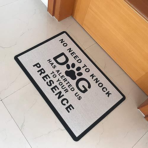 HSXQQ rubberen deurmat ingang vloermat geen behoefte om te kloppen hond heeft ons op uw aanwezigheid grappige deur mat Indoor Outdoor welkomstmat