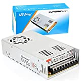 SUPERNIGHT DC 12V 30A 360W Universal Regulated Switching Power Supply AC 110V/220V to DC 12V Power Driver for 3D Printer,HAM Radio Transceiver,Car Subwoofer amp Audio Amplifier and RC LiPo Chargers
