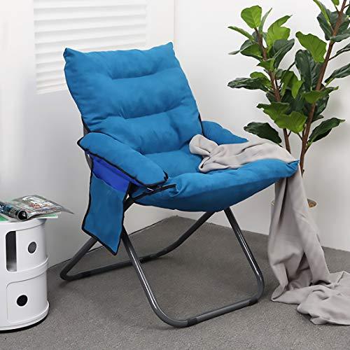 Fengyj Silla Plegable sillón con Respaldo Ajustable, INKL.Ideal para dormitorios, Sala de Estar, Oficina,Light Blue