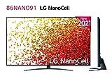 LG - Televisión LG 4K NanoCell 916PA 86' (217 cm), SmartTV webOS 6.0, Procesador Inteligente 4K α7 Gen4 con AI, Gaming Pro TV, Compatible con el 100% de formatos HDR, HDR Dolby Vision, Dolby Atmos