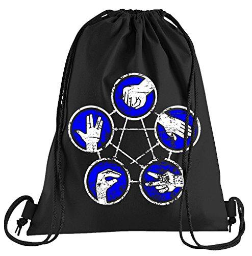 Camiseta de People Piedra Papel Tijera Lagarto Spock Rules Bolsa de Deporte–Serigrafiado Bolsa–Una Bonita Funda Bolsa De Deporte con Bordados