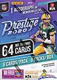2020 Panini Prestige NFL Football EXCLUSIVE Factory Sealed Retail Box with 64 Cards with AUTO or MEMORABILIA Card! Look for ROOKIES & AUTOS of Joe Burrow, Tu... rookie card picture