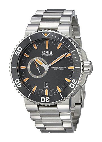 Oris Damen-Armbanduhr 46mm Armband Edelstahl Gehäuse + Schweizer Automatik Analog 74376734159MB